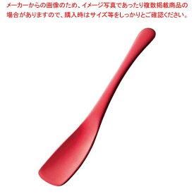 すくいやすい アルミアイスプーン レッド(1個箱) 【厨房館】