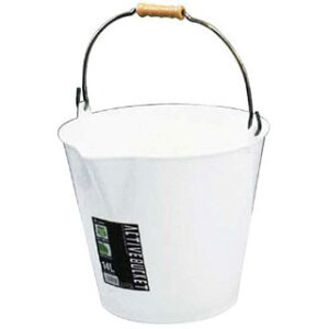 【 アクティブバケツ ホワイト 8リットル 】【 厨房器具 製菓道具 おしゃれ 飲食店 】 【厨房館】