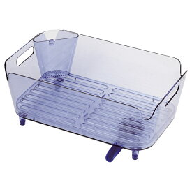 アクリア 水切りバスケットセット(ブルー) 【厨房館】