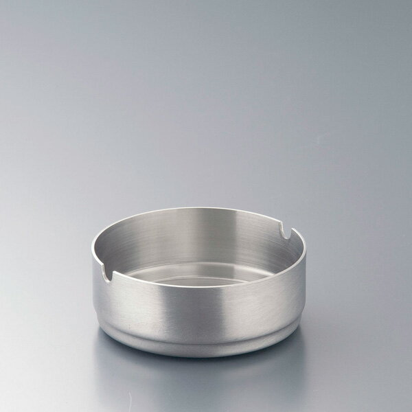フラット ステンレススタッキング丸灰皿 レスト付 7cm 【厨房館】
