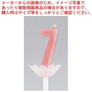 パプリデジットキャンドル 赤 7【 キャンドル ろうそく 蝋燭 ロウソク ランプ ウエディング用品 】 【厨房館】