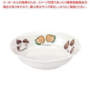 メラミンお子様食器「ベジタ村」 37-VV 16.5cm深皿【ECJ】【メラミン 食器 メラミン食器 給食 介護 養護 施設 食堂 キッズ 皿 】 【食器 メラミン 】