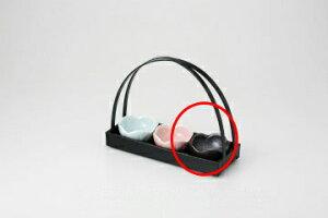 和食器 黒水晶 梅型珍味 36K098-39 まごころ第36集 【キャンセル/返品不可】【厨房館】