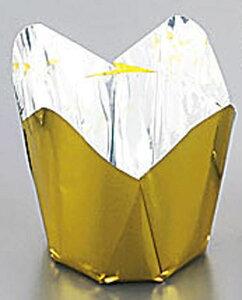 『アルミケース 焼型 お菓子作り』アルミケースチューリップ型[100枚入] ゴールド 55号 【厨房館】