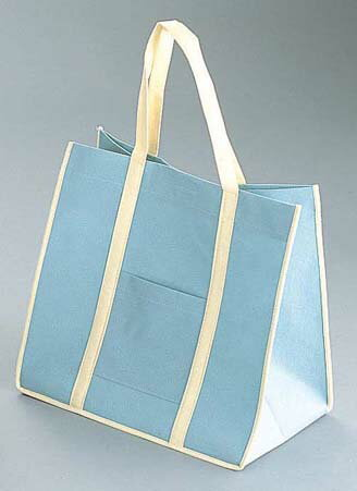 『手さげ袋 』ファインビュー 不織布バッグ[10枚入] 大 アッシュグレー【厨房館】