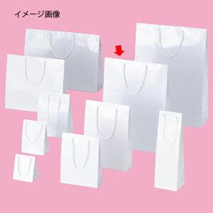 手提げ紙袋 ブライトバック ホワイト 33×10×45cm 10枚【 ラッピング用品 紙袋 手提げ紙袋(無地) 紐付き紙袋ブライトバッグ 】【厨房館】