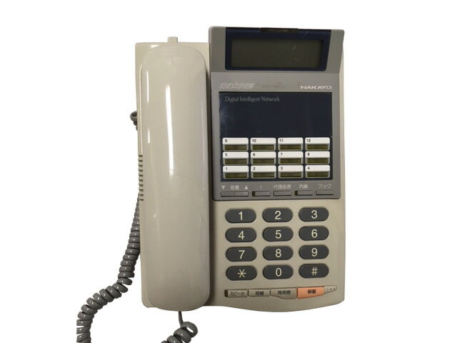 ★受話器・コードなし★中古ナカヨビジネスホン 12ボタン標準電話機 NYC-12Gi-TELSD※キーシートあり【中古】