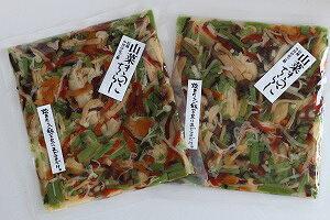 【送料無料】山菜きのこちらし 2袋セット(6合分) 小川の庄 お土産 郡山銘販 まざっせこらっせ 観光応援 お取り寄せグルメ