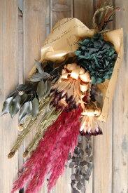 スワッグ*人気の壁飾り/プリザーブドフラワー ドライフラワー インテリア グリーン 生活 新築祝 開店祝 誕生日 自宅 クリスマス 花束