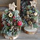 ドライグリーン 【クリスマスツリー・mini】 木の実などのパーツを使ったクリスマスツリー。玄関やテーブルの上でも…