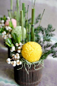 プリザーブドフラワー ギフト 【かぐや】全て和にこだわった空間と存在感あるアレンジ 花電報 誕生日 内祝 お祝い 花 結婚 和風 和装 正月 門松 竹 テーブル花 披露宴 パーティー会場