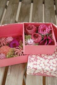 花織・かおり* プリザーブドフラワー 貼り箱 和風アレンジ 花電報 和装 お祝い 花 結婚 結納 内祝 誕生日 新築