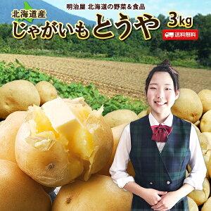 じゃがいも 送料無料 3kg とうや 北海道産 羊蹄山麓産 M〜L サイズ混み ジャガイモ 芋 トウヤ 野菜ギフト 野菜 お歳暮 混みとうや