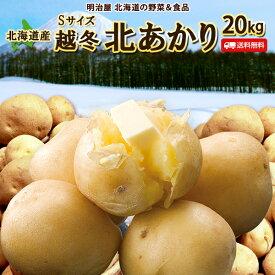 じゃがいも 送料無料 北あかり 20kg 小さな訳あり Sサイズ 北海道産 ニセコ産 サイズ混み ジャガイモ 芋 キタアカリ きたあかり わけあり ワケアリ S北