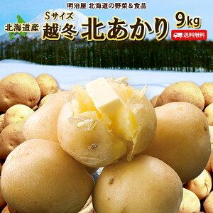 じゃがいも 送料無料 北あかり 9kg 小さな訳あり Sサイズ 北海道産 ニセコ産 サイズ混み ジャガイモ 芋 キタアカリ きたあかり わけあり ワケアリ S北