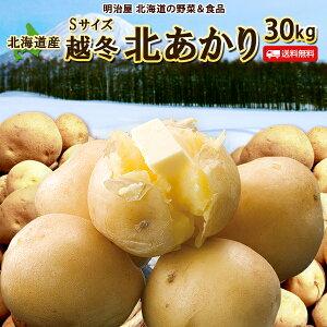 じゃがいも 送料無料 北あかり 30kg 小さな訳あり Sサイズ 北海道産 ニセコ産 サイズ混み ジャガイモ 芋 キタアカリ きたあかり わけあり ワケアリ S北