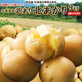 じゃがいも 送料無料 北あかり 9kg 訳あり 北海道産 ニセコ産 低農薬栽培 サイズ混み ジャガイモ 芋 キタアカリ きたあかり わけあり ワケアリ 訳北