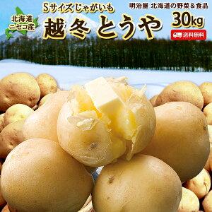 訳あり じゃがいも 送料無料 30kg 小さなとうや 北海道産 ニセコ産 Sサイズ ジャガイモ 芋 トウヤ わけあり ワケアリ 野菜 Sとうや