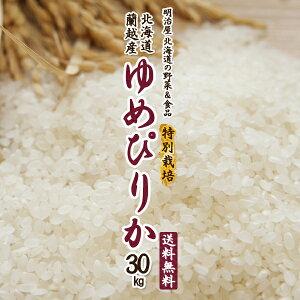 【特別栽培米】ゆめぴりか 送料無料 30kg (5kg×6袋) 令和3年 新米 北海道産 蘭越産 送料込み ユメピリカ 北海道米【福岡農園】