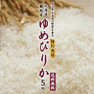 【特別栽培米】ゆめぴりか 送料無料 5kg 令和3年 新米 北海道産 蘭越産 送料込み ユメピリカ 北海道米【福岡農園】