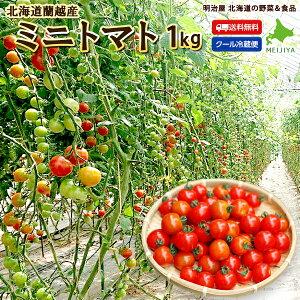 ミニトマト 送料無料 1kg アイコ・キャロルスターのいずれかよりお届けします♪ 北海道 蘭越産 野菜ギフト とまと 冷蔵便
