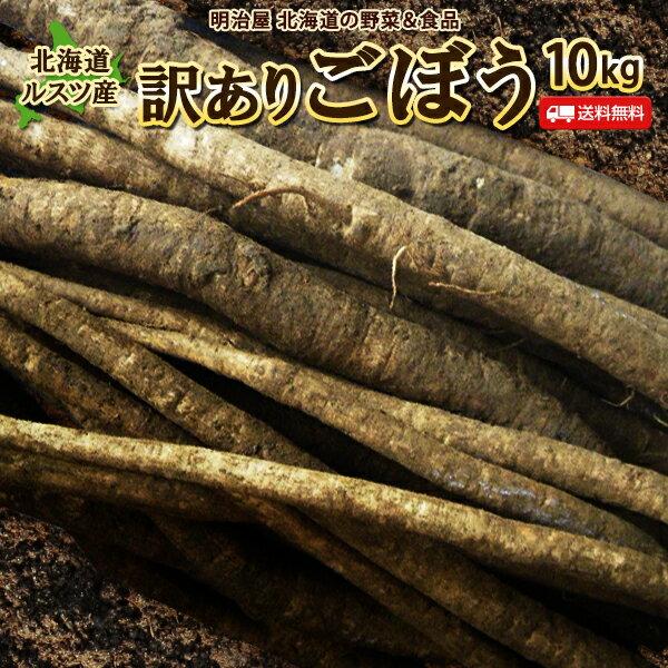 ごぼう 10kg 北海道ルスツ産 土付き 訳あり 混みサイズ 送料無料 送料込み ごぼう茶 国産 わけあり ワケアリ ゴボー 牛蒡