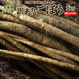 ごぼう 送料無料 5kg 北海道ルスツ産 土付き 訳あり 混みサイズ 送料込み ごぼう茶 国産 わけあり ワケアリ ゴボー 牛蒡