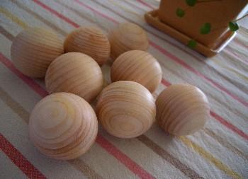 ◆ひのきのゆだま 丸型◆あたたかな冬に♪【国産品/無垢ひのき】  天然木無垢材ひのきの芳香 使い方いろいろ♪ 木工職人の手作り 安心商品