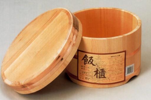 ◆おひつ 18センチ(約3.5合まで用)◆【国産品/国産さわら材・銅タガ】 職人の手作り 安心商品