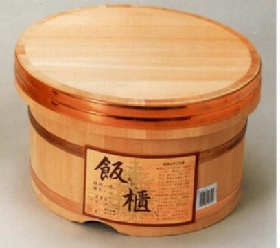◆おひつ 21センチ(約5合まで用)◆【国産品/国産さわら材・銅タガ】 職人の手作り 安心商品