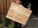 【国産品/ポイント5倍/国産ひのき】 耐久性の4本足! 木製 すのこ (7枚巾) 木工職人の手作り 安心商品