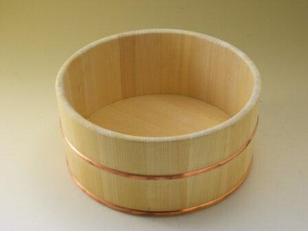 ◆木の香 オリジナル◆お風呂の木製ゆおけ(丸型 直径約24センチ)【国産品/国産さわら材・銅タガ】 木工職人の手作り 安心商品