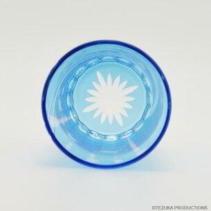 切子タンブラー「アトム」ブルー/江戸硝子