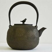 鉄瓶朝顔紋鉄分/やかん/湯沸/茶道