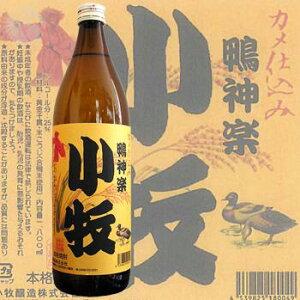 ≪芋焼酎≫ 合鴨米使用 カメ仕込み 小牧 鴨神楽 25度 900ml :こまき かもかぐら