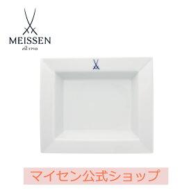 【日本総代理店/送料無料】 マイセン 剣マーク スクエアディッシュ(大)