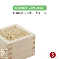 無農薬無化学肥料栽培米滋賀県高島産ミルキークイーン5kg