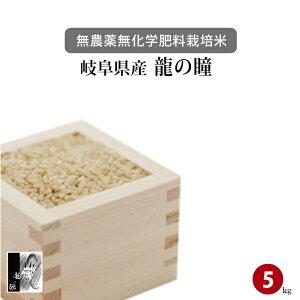 無農薬 無化学肥料 栽培米 岐阜県下呂産 龍の瞳(いのちの壱) 5kg 玄米 令和1年産