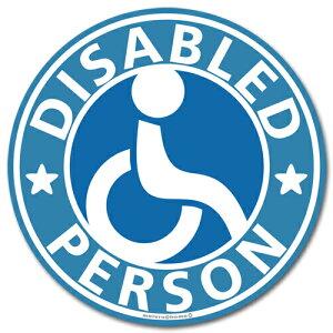 車椅子マーク ステッカー(ブルー)/障害者 身障者マーク 車いす 車イス ゆっくり走ります 高齢者 車 【メール便送料無料】