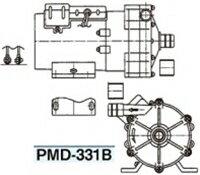三相電機(SANSO) PMD-331B6C マグネットポンプ 単相100V 温水用 ホースタイプ