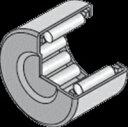 NTN ニードルベアリング BK4520 シェル形針状ころ軸受