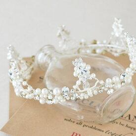 【SALE】パール クラウン・王冠/ヘッドドレス/ホワイト[ha183]