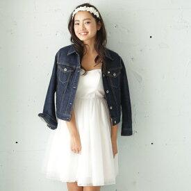 【即納】ショート丈 ウェディングドレス/オフホワイト サテン チュールスカート/フリーサイズ[ds006]