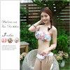 Petal wire Bandu bikini tailcoat type Chuan Pisamai chuanpizamic petal flower flower swimsuit ladies imported floral