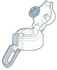 象印部品:せんカバーセット(BTトップブラック)/BB395827L-03クールボトル用〔55g〕〔メール便対応可〕