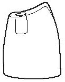 ツインバード部品:キャップ/452018 角質リムーバー用〔メール便対応可〕