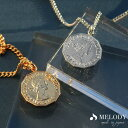 10%OFFクーポン配布中 ネックレス コイン 幸運 ペンダント エリザベス 金貨 貨幣 オフィス レディース メンズ 銀貨 ワ…
