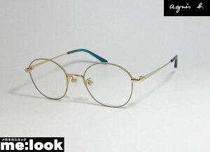 agnes b. アニエス・ベー レディースクラシック眼鏡 メガネ フレーム50-0050-1 サイズ47度付可 パステルグリーン ゴールド