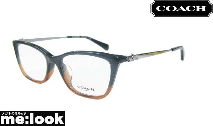 COACH コーチレディース 眼鏡 メガネ フレームHC6107F-5475-54 度付可ブラウンアンバー/グリッターグラディエント