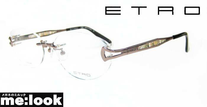 ETRO エトロレディースメガネ フレームET2500J-229-55 度付可縁なし ブラウン